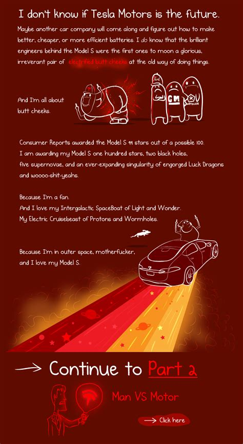 The Oatmeal Tesla Car What It S Like To Own A Tesla Model S A Cartoonist S