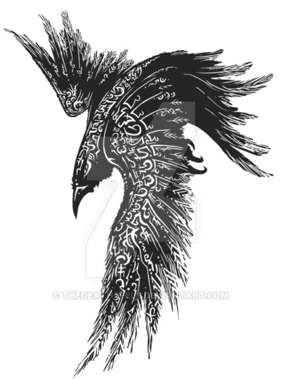 raven rune tattoo by thedeathspell on deviantart