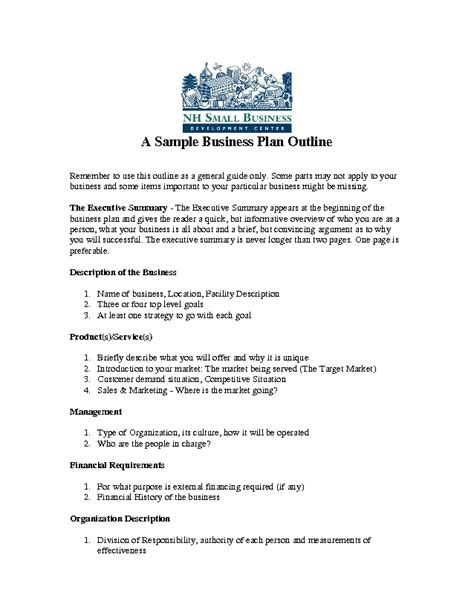 business plan knec format sle business plan outline business form templates