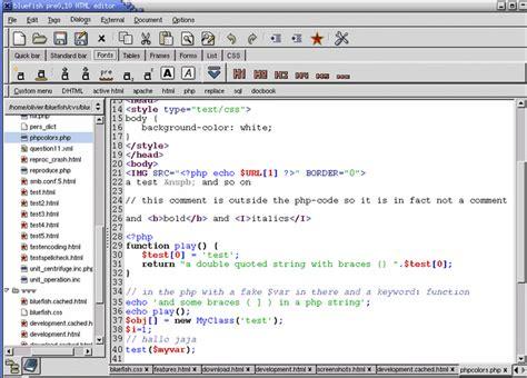 bluefish editor design view top 8 dreamweaver alternatives for web designers