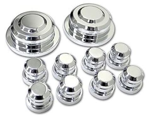 pirate musc   ford mustang chrome billet pc strut tower cap kit ebay