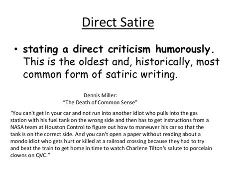 Essay Satiric by Satire And Irony
