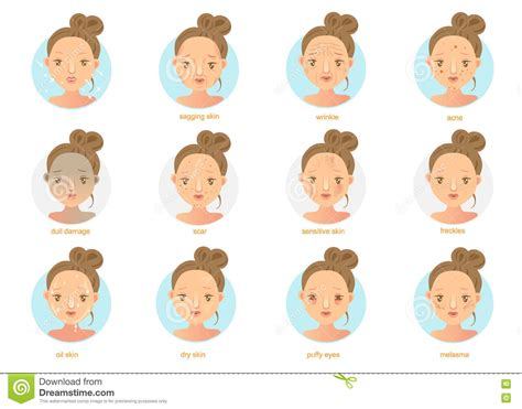 Pattern Words For Acne | scars cartoons illustrations vector stock images 191
