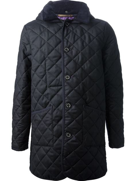 Mackintosh Quilted Jacket by Mackintosh Quilted Coat In Blue For Lyst