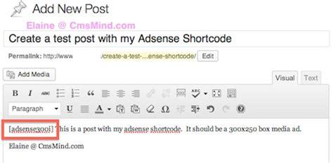 wordpress tutorial new post how to create adsense shortcodes in wordpress