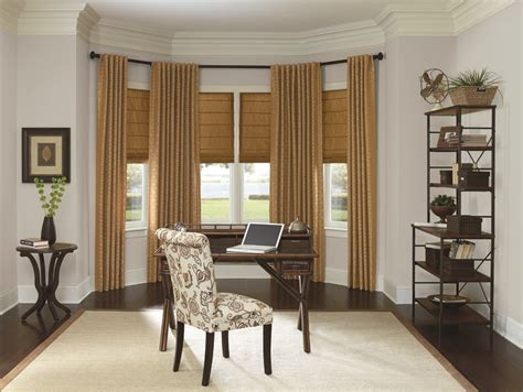 window treatment for bay windows double layered roman 16 best images about bay window treatments on pinterest