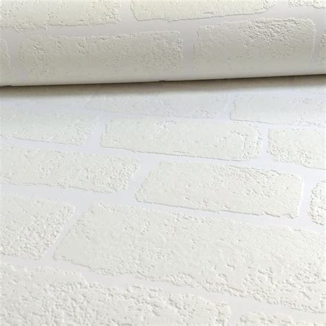 brush up on paintable wallpaper for a posh look anaglypta lincolnshire white brick pattern textured