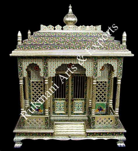 meenakari temple white metal temple german silver temple