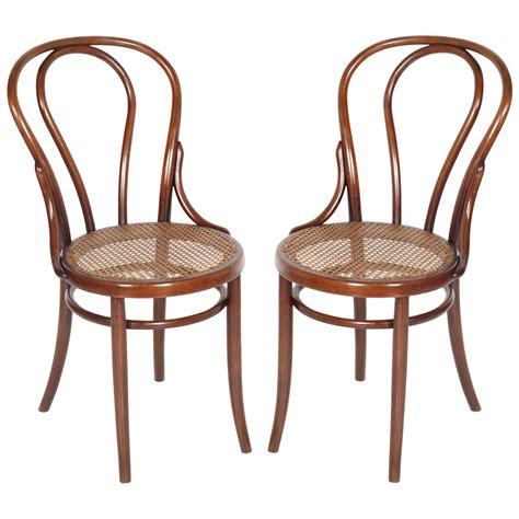 sedie di vienna coppia sedie thonet in faggio curvato e paglia di vienna