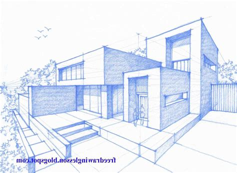 House Drawing Sketch With Color modern house drawing sketch with color