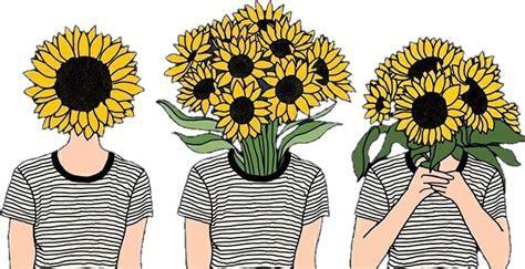 flowers girasoles tumblr girls hipster
