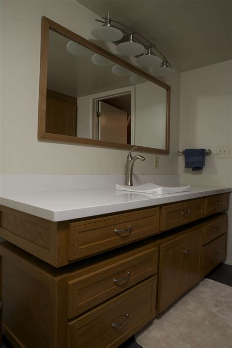 left side sink bathroom vanity corbin s treehouse 187 blog archive 187 bathroom remodel done
