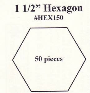 free paper piecing hexagon templates 1 5 quot hexagon paper piecing templates pack of 50 ebay