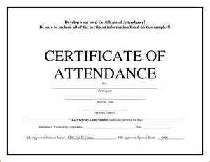 Certificate of attendance template memo templates