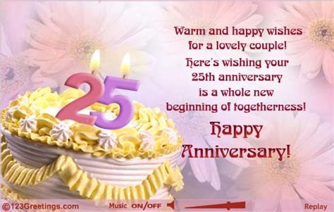 25th Wedding Anniversary Greetings Quotes by Quotes For 25th Wedding Anniversary Wishes In Image