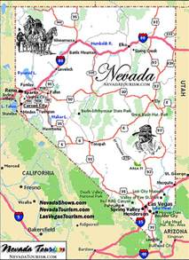 Nevada State Map by State Of Nevada Map