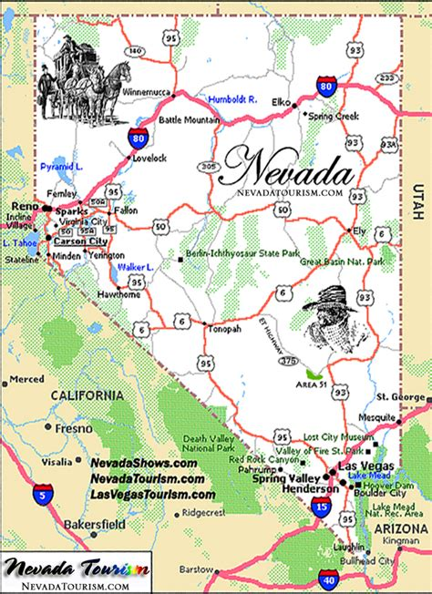 nevada state maps state of nevada map