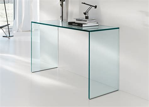 schreibtisch glas tonelli gulliver glass desk console table home office