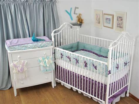 purple dot and aqua crib bedding purple lilac in the