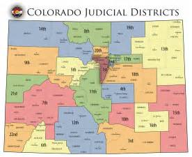 county colorado map colorado state judicial branch courts district map