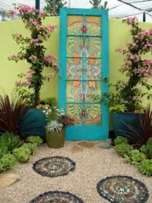 Door repurposed as garden d 233 cor love paper paint