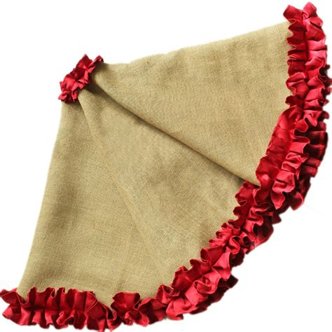 how big should a tree skirt be cottage ruffler border burlap tree skirt large 60 quot diameter in tree skirts from