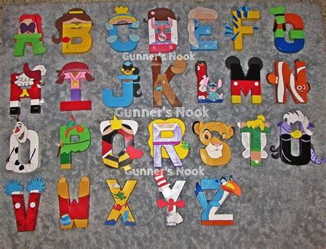 Character With Letter K Disney Character Letter Alphabet Wall On Etsy 250 00