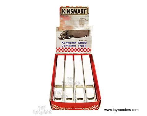 Kinsmart Kenworth Container 168 kinsmart kenworth t2000 container truck 1 66 scale diecast model car white 1301ww