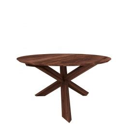 ethnicraft walnut osso round dining table counter height ethnicraft circle dining table modern walnut dining 4
