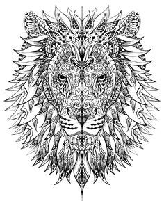 abstract lion coloring pages coloration coloriage and abstrait on pinterest