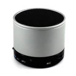 Wholesale round portable bluetooth speaker gray