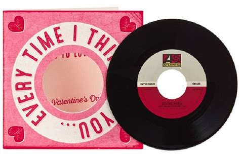 recordable valentines day cards hallmark releases vinyl record valentine s day card news