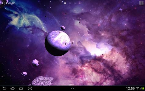 3d Universe Live Wallpaper enjoy the universe right on your homescreen astroids 3d