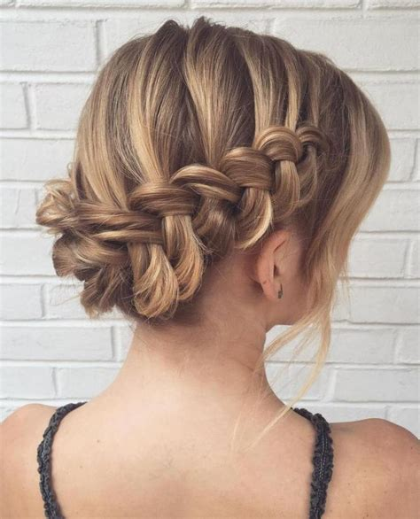 how to prom hairstyles for thin hair best 25 waterfall braid updo ideas on pinterest