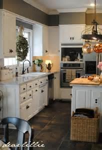 kitchen white cabinets gray walls wall color benjamin