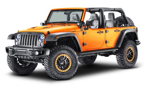 Jeep Wrangler Car Orange Jeep Wrangler Car Png Image Pngpix