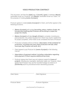 co production agreement template production contract template