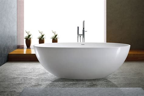 solid surface bathtub adalina solid surface modern bathtub 71 quot