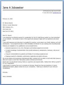 Cover Letter Exles For Nurses by Experienced Cover Letter Resume Downloads