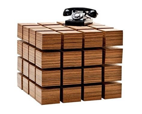 wooden designs table floating wood cubix ideas design strange table