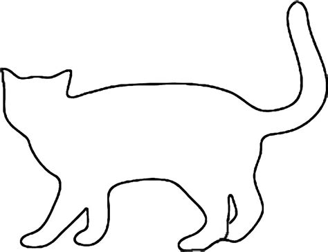 black cat template printable best photos of cat outline template white cat outline