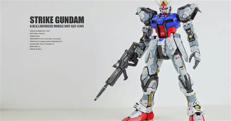 Ng266 Pg Gat X105 Strike Gundam 160 Daban gundam pg 1 60 gat x105 strike gundam customized build