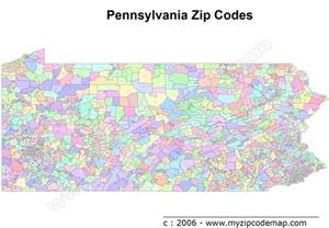 zip code map free pennsylvania zip codes map free