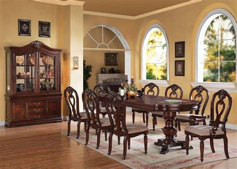 pedestal dining room table sets furniture gwyneth formal dining room set with