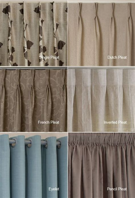 drapery pleats types exles of the different heading types available i quite