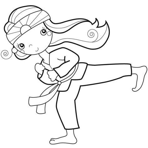 spongebob karate coloring pictures clipartsco