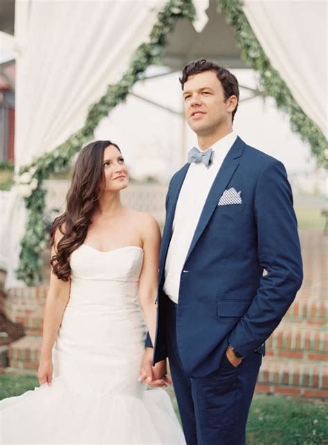 Wedding Attire On A Boat by Navy Grooms Suit With Seersucker Http Itgirlweddings