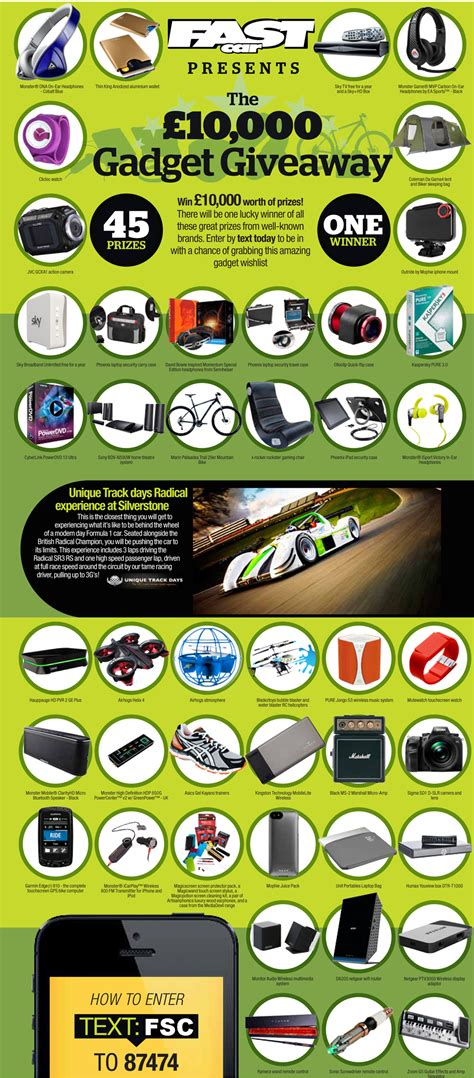 Gadget Giveaway - fast car presents the great gadget giveaway fast car