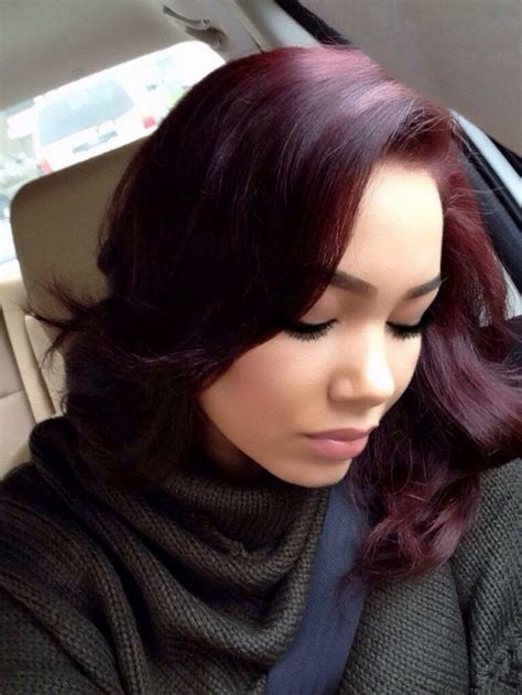 burgundy hair on a burgundy ombre hair on black women sex porn images