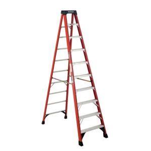 Home Depot 10 Foot Ladder by Werner 10 Ft Fiberglass Step Ladder With 300 Lb Load